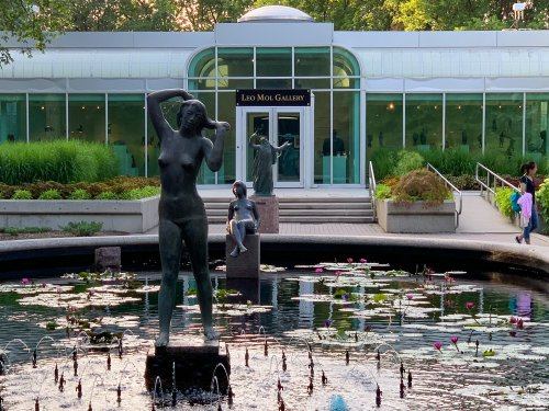 The water lily pond in the Leo Mol sculpture garden.